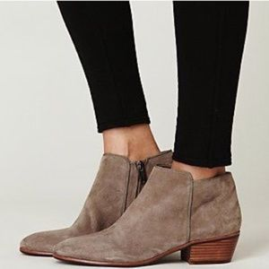 Sam Edelman Petty Booties in Putty Suede